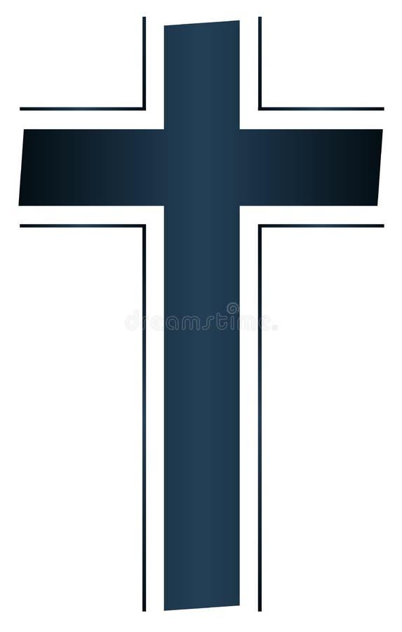 Odosobniony Chrześcijański krucyfiks royalty ilustracja