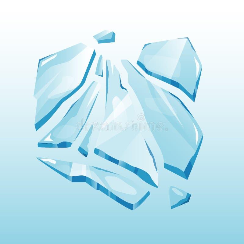 Odosobniony czapy lodowa snowdrift elementu wektor ilustracji