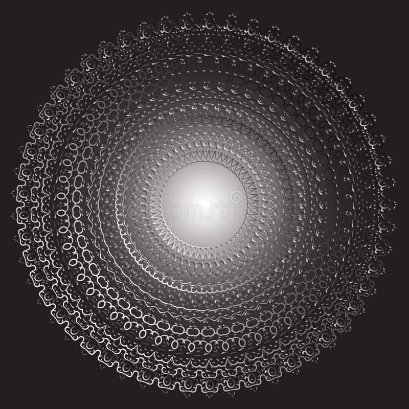 Odosobniony czarny i biały kwiecisty wektoru wzór Kaligraficzny rocznik kwitnie, wiruje, wykłada, krzywy i ornament zawijas royalty ilustracja