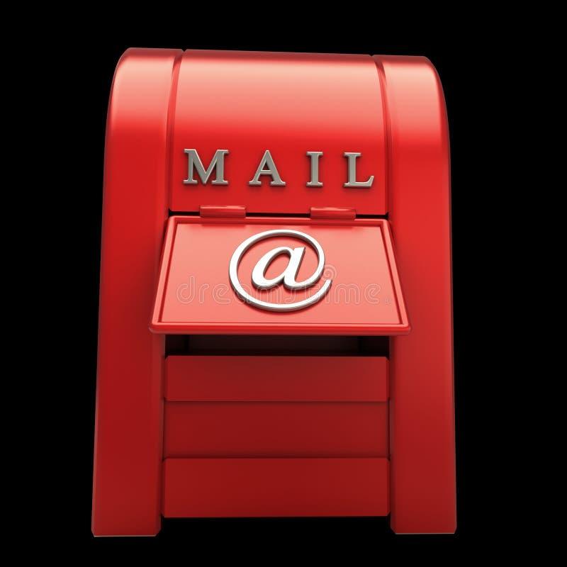 odosobniony czerń postbox ilustracji