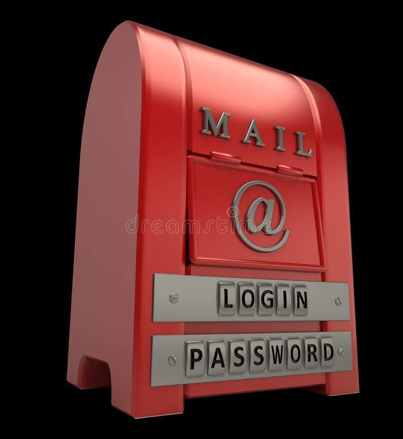 odosobniony czerń postbox ilustracja wektor