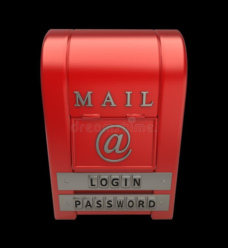 odosobniony czerń postbox royalty ilustracja
