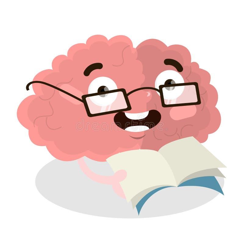 Odosobniony czytelniczy mózg ilustracji