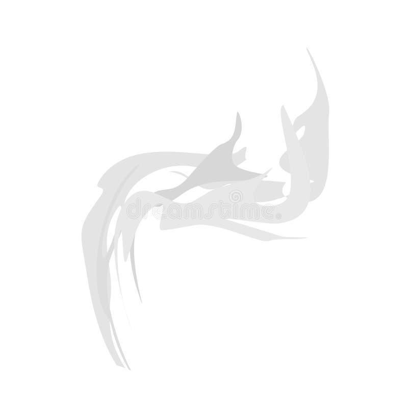 odosobniony dym Wektorowa ilustracja opar na białym tle ilustracja wektor