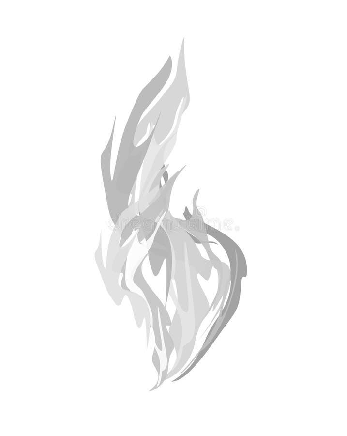 odosobniony dym Wektorowa ilustracja opar na białym tle royalty ilustracja