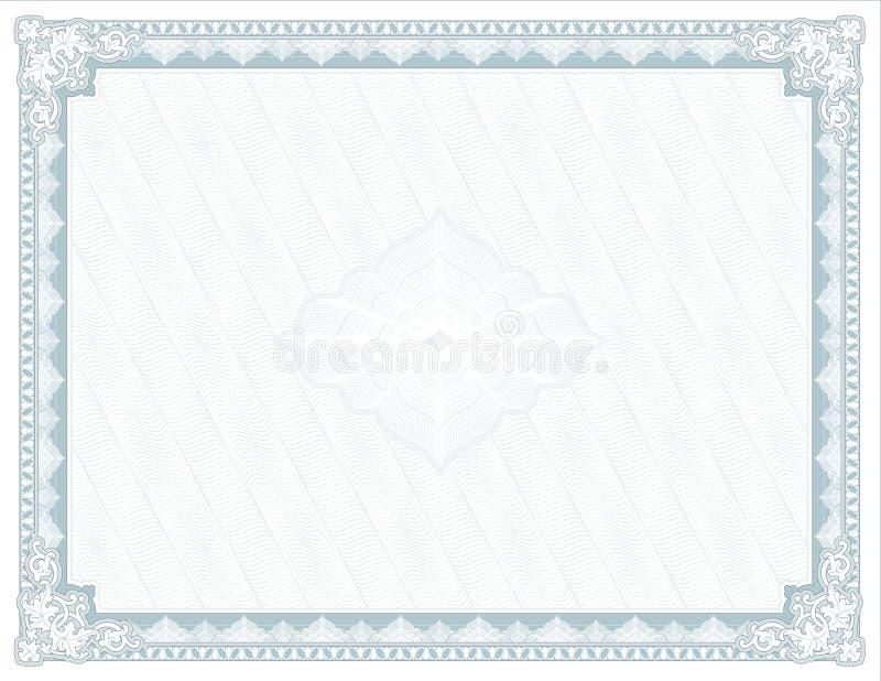 Odosobniony dyplom nagroda dla druku - świadectwo - ilustracja wektor