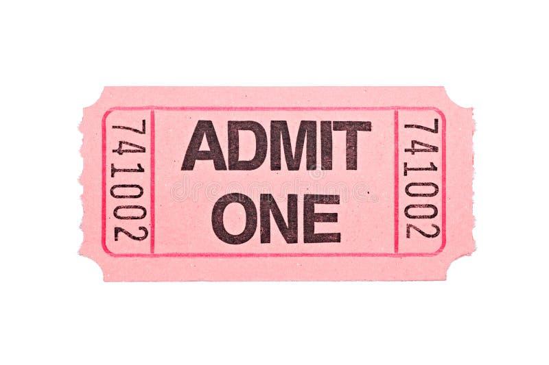 odosobniony filmu bileta biel zdjęcia stock