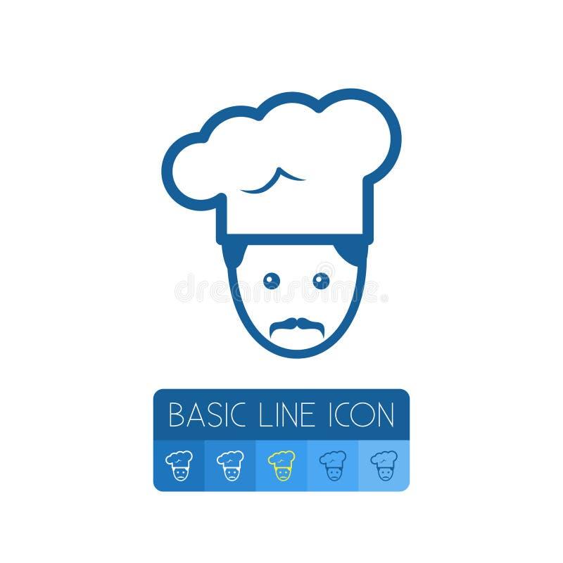 Odosobniony Gastronomy kontur Zawodu Wektorowy element Może Używać Dla Gastronomy, szef kuchni, zawodu projekta pojęcie royalty ilustracja