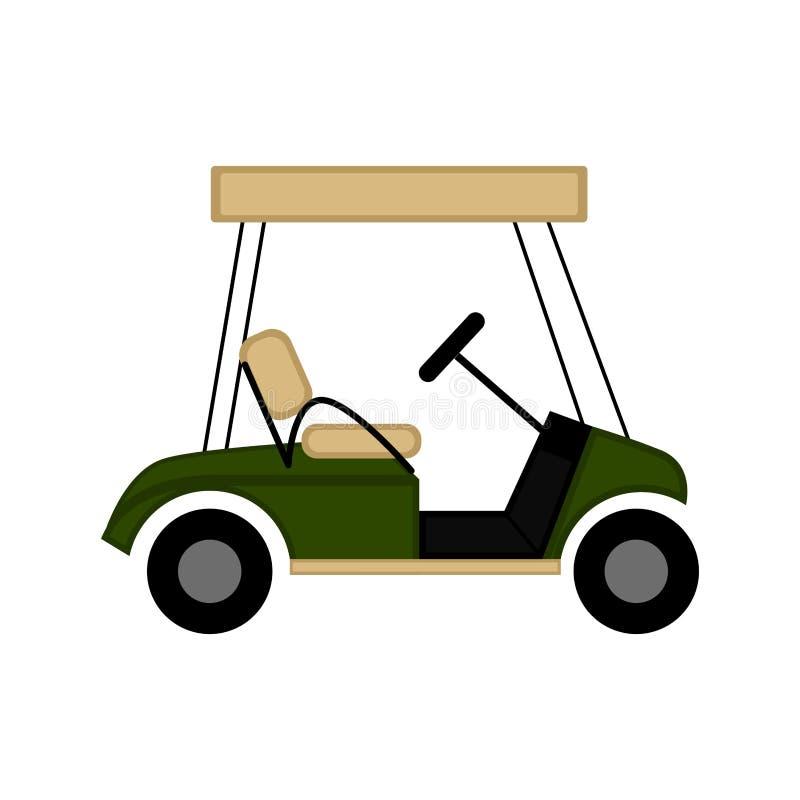 Odosobniony golfowej fury wizerunek ilustracji