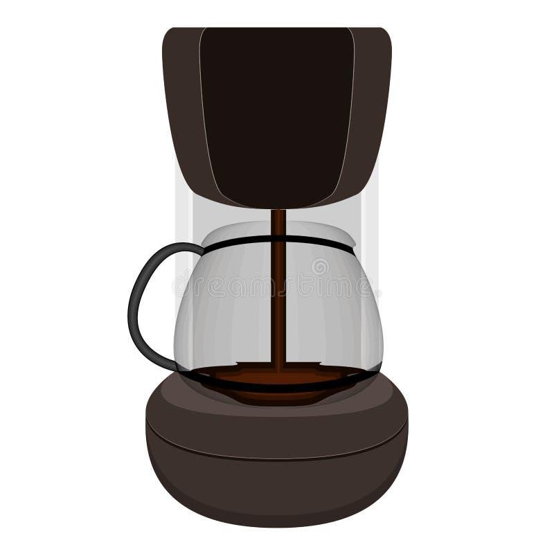 Odosobniony gorący kawowego producenta maszyny wizerunek ilustracji