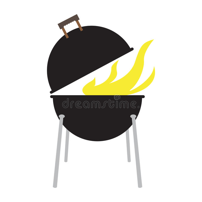 Odosobniony grilla grill royalty ilustracja