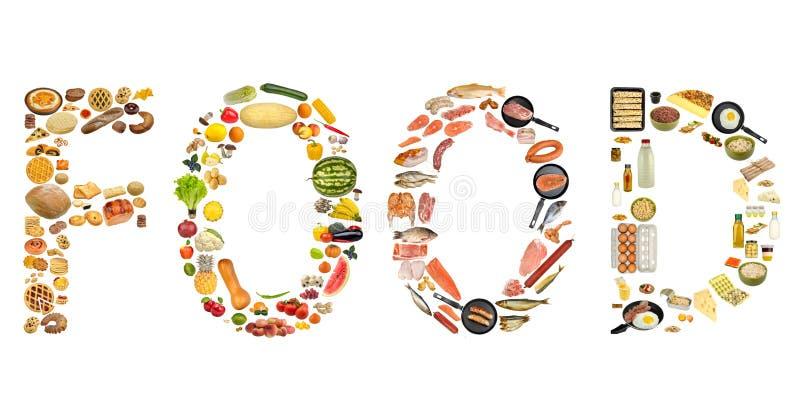 odosobniony jedzenie set obrazy stock