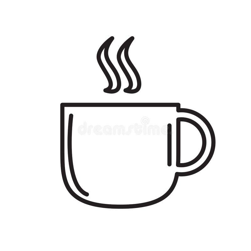 Odosobniony kawowego kubka kontur ilustracji