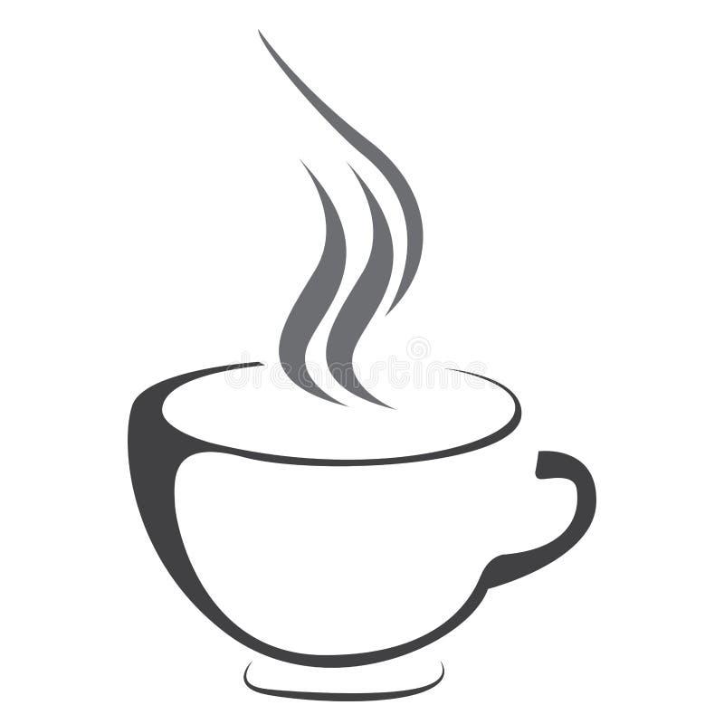 Odosobniony kawowego kubka logo ilustracji