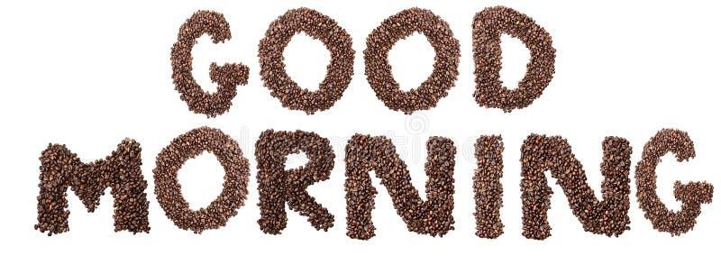 Odosobniony Kawowej fasoli dnia dobrego zwrot zdjęcie stock