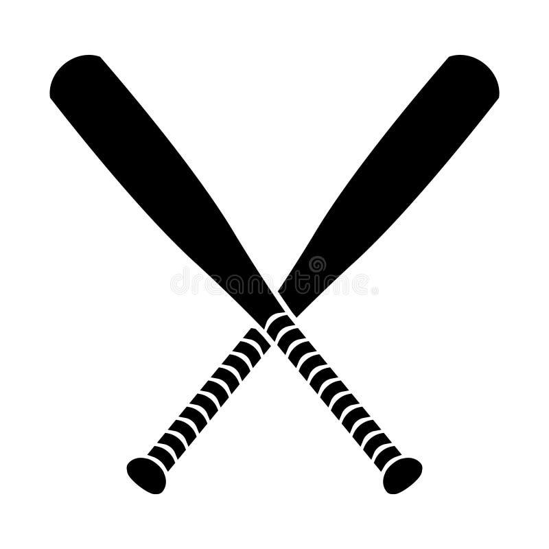 odosobniony kij bejsbolowy biel ilustracji