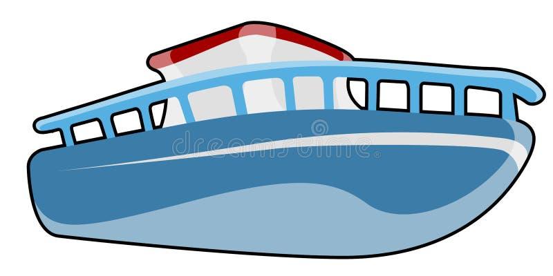 Odosobniony komiczny statek ilustracja wektor