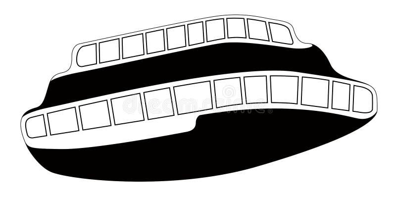 Odosobniony komiczny statek royalty ilustracja