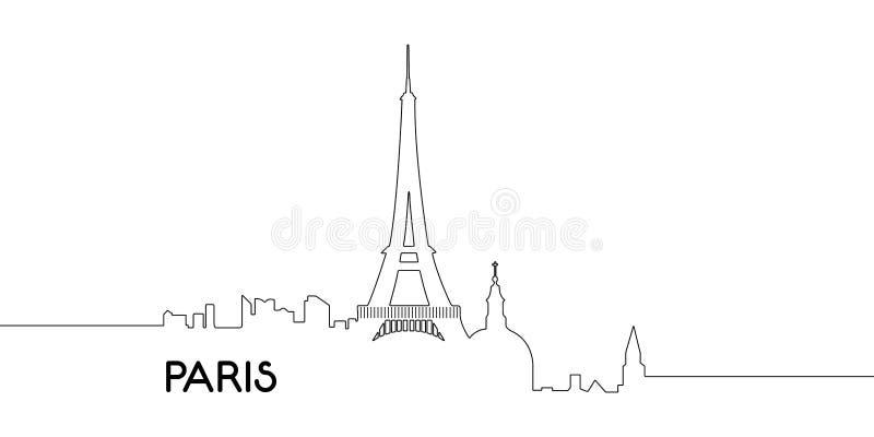 Odosobniony kontur Paryż ilustracji