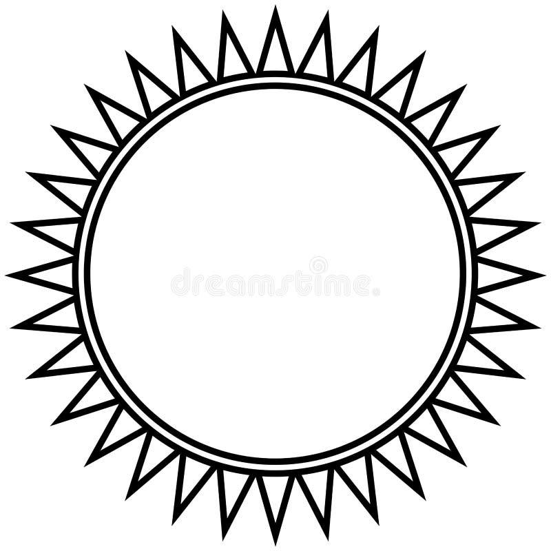 Odosobniony kontur słońce royalty ilustracja