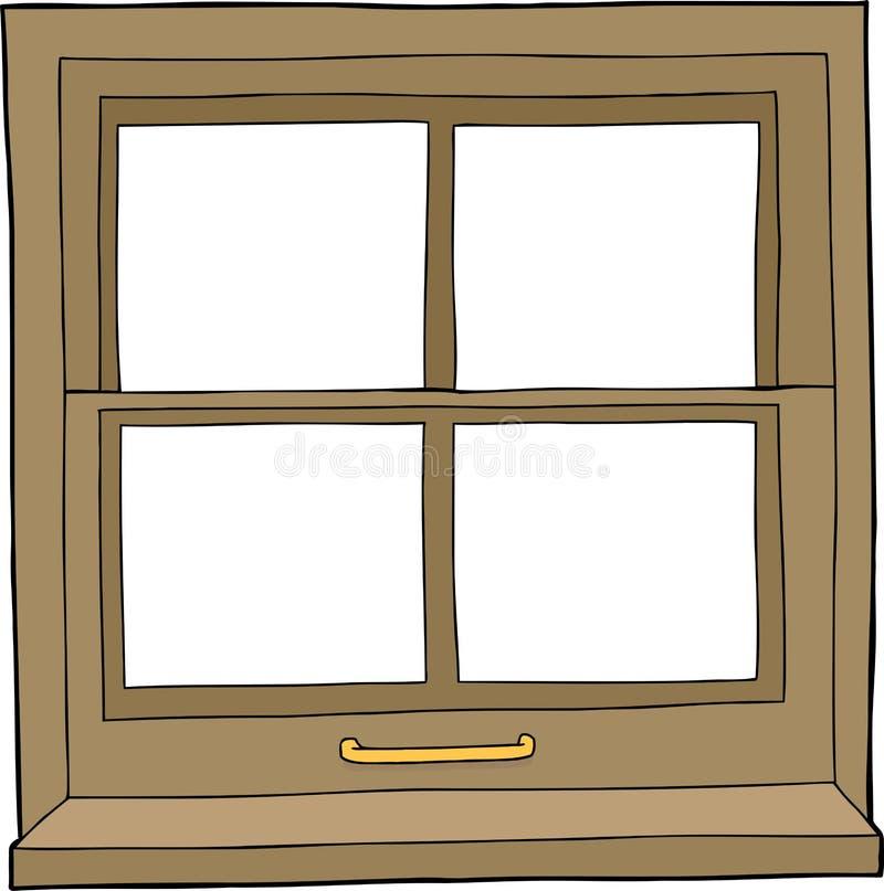 Odosobniony kreskówki okno ilustracja wektor
