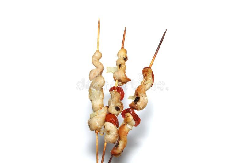 odosobniony kurczaka kebab zdjęcie stock
