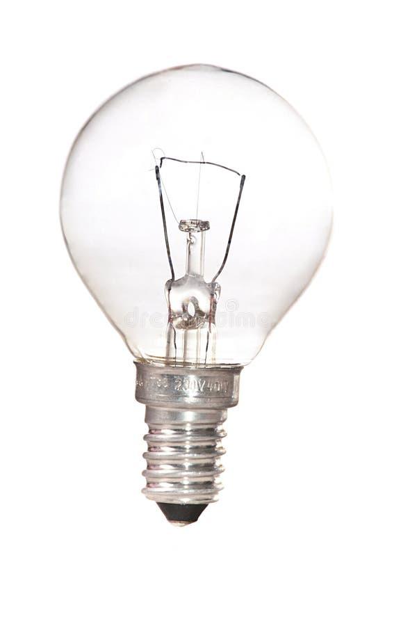 odosobniony lightbulb obraz stock
