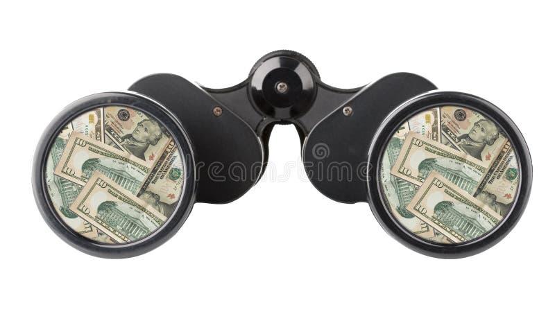 odosobniony lornetka pieniądze zdjęcia stock