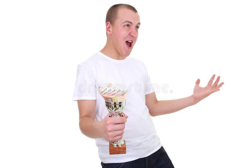 odosobniony loteryjny biały zwycięzca obraz stock