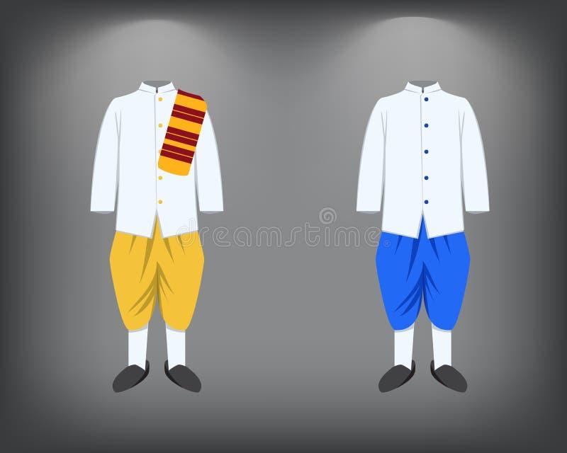 Odosobniony mężczyzna kostium, tradycyjny Tajlandzki kostium royalty ilustracja