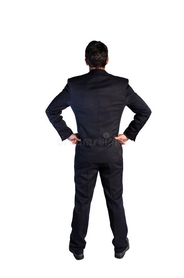 Odosobniony młody biznesowy mężczyzna zdjęcia stock