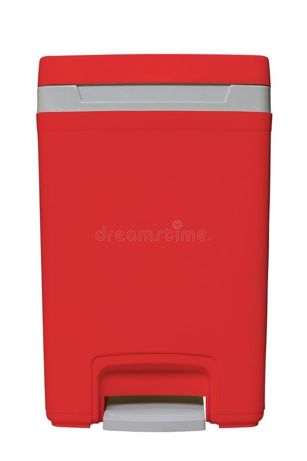 Odosobniony mały czerwony kosz zdjęcie stock