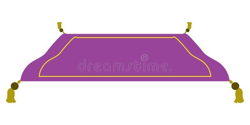 Odosobniony magiczny dywan ilustracja wektor