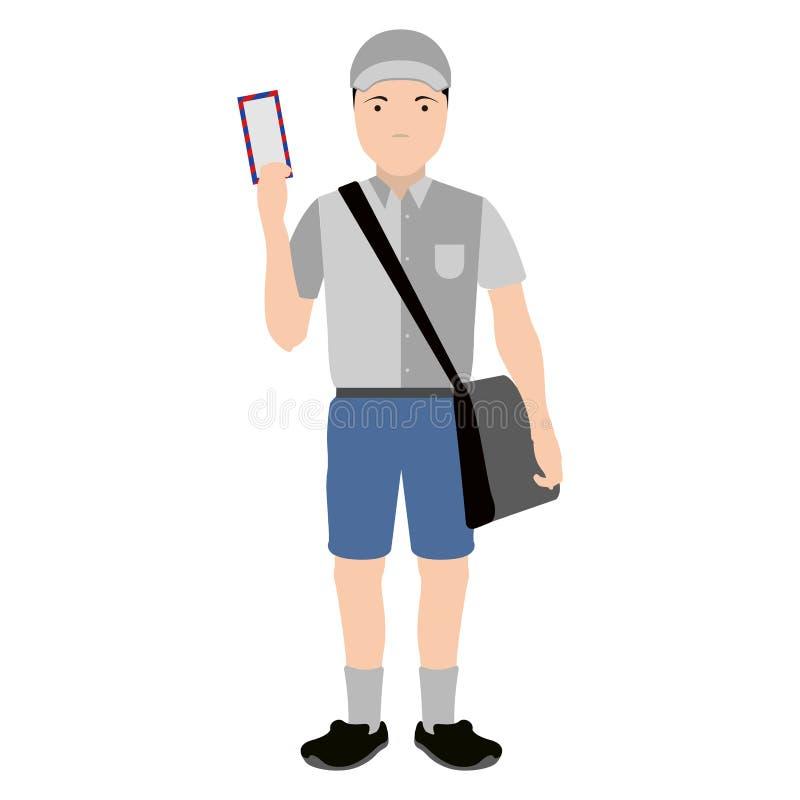 Odosobniony mailman avatar ilustracja wektor