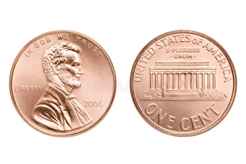 odosobniony makro- cent obraz stock