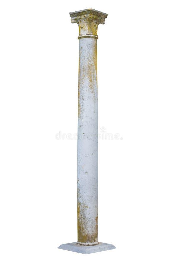 Odosobniony marmurowy filar z znakami wietrzenie fotografia stock
