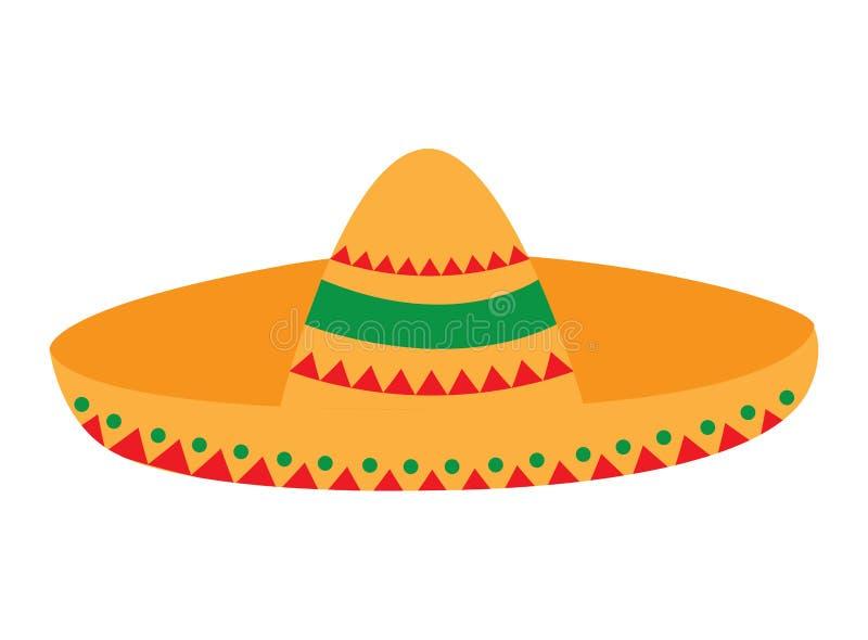 Odosobniony meksykański kapelusz royalty ilustracja
