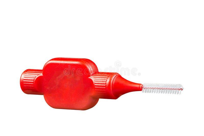 Odosobniony międzyzębny toothbrush fotografia stock