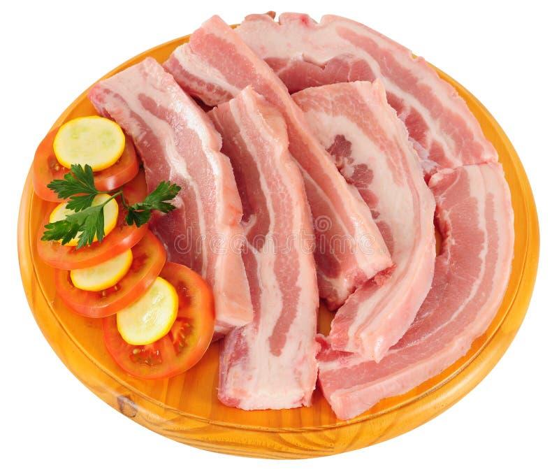odosobniony mięsny surowy fotografia royalty free