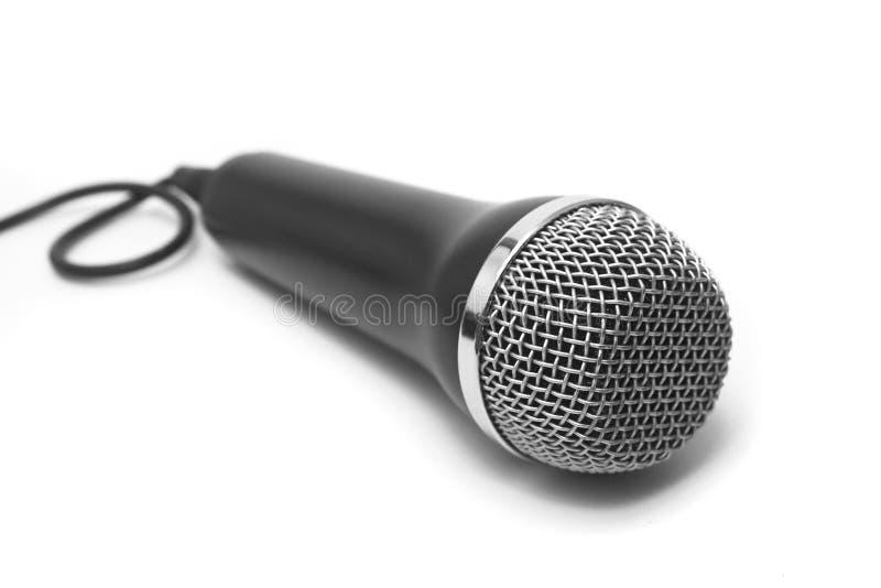 odosobniony mikrofon obraz stock