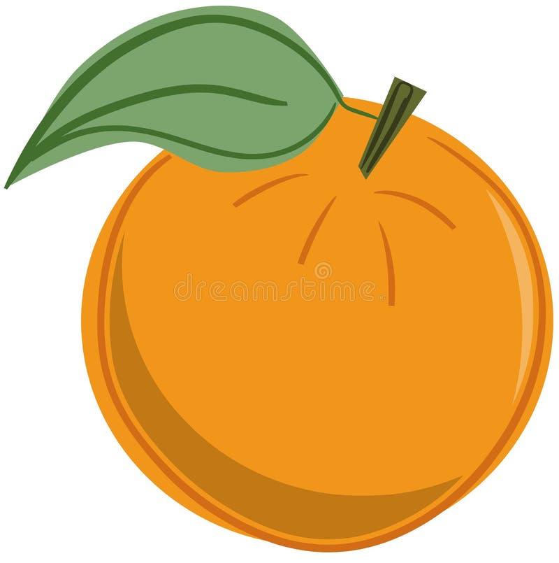 Odosobniony nakreślenie Pomarańczowa owoc ilustracji