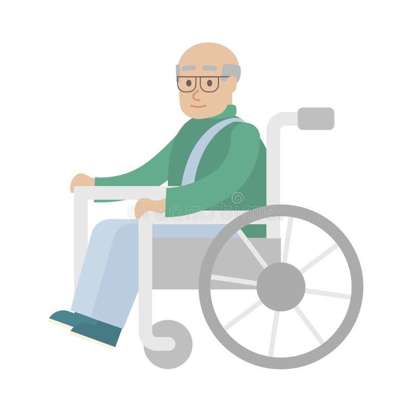 Odosobniony niepełnosprawny mężczyzna royalty ilustracja