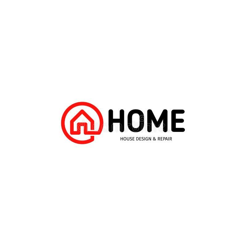 Odosobniony nieruchomość agencyjnego biznesu logo, domowy logotyp na białym tle, domowa pojęcie ikona, hotelowy wektor ilustracja wektor