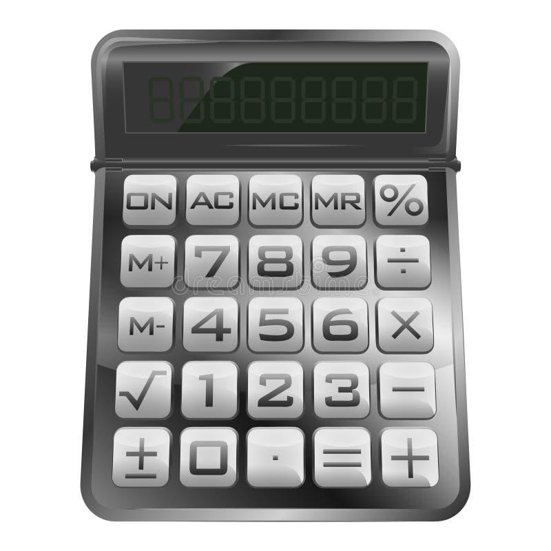 Odosobniony nowy nowożytny matematycznie kalkulator  ilustracja wektor