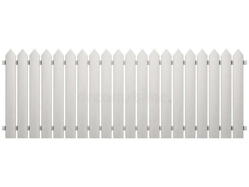 odosobniony ogrodzenie biel ilustracja wektor