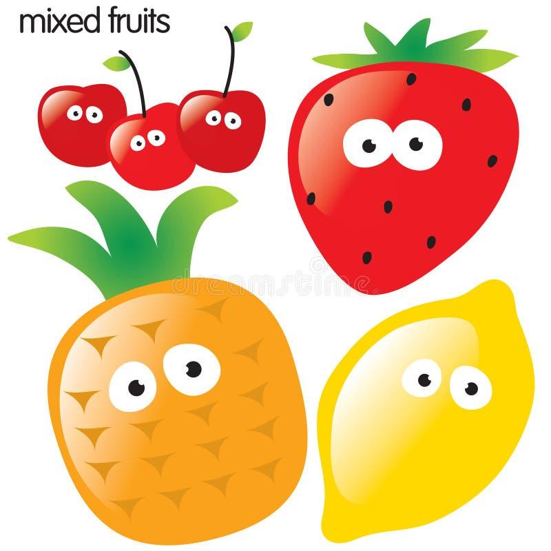 odosobniony owoc set ilustracja wektor