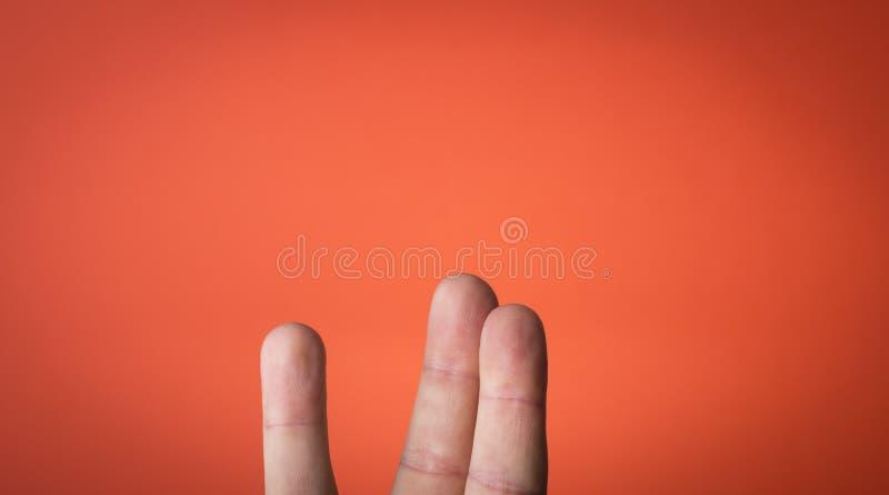 Odosobniony palec na którym rysować możesz ty fotografia stock