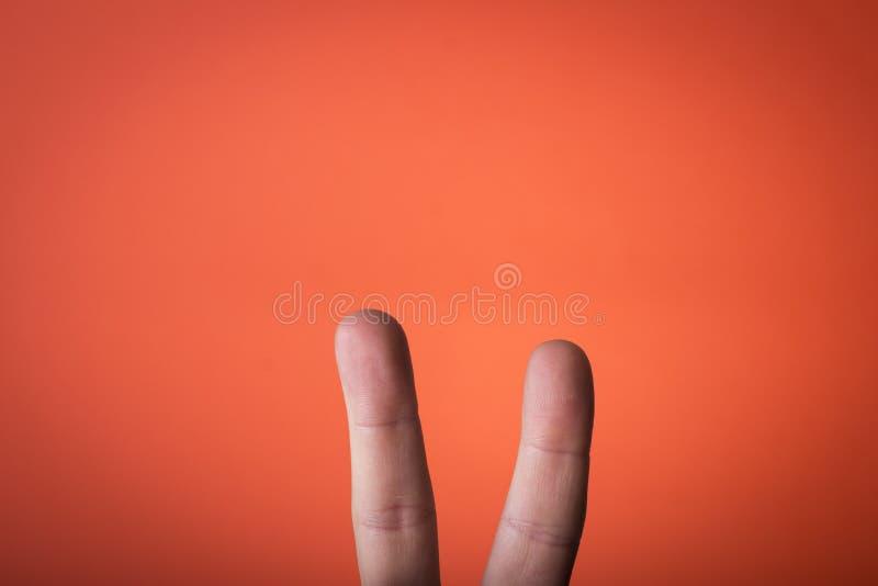 Odosobniony palec na którym rysować możesz ty obrazy royalty free
