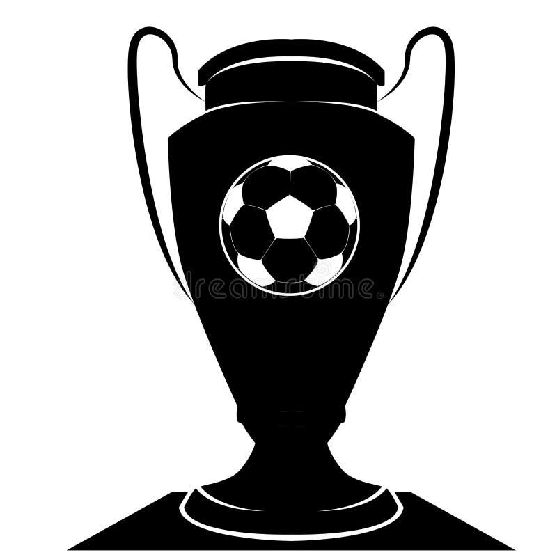 Odosobniony piłki nożnej trofeum royalty ilustracja