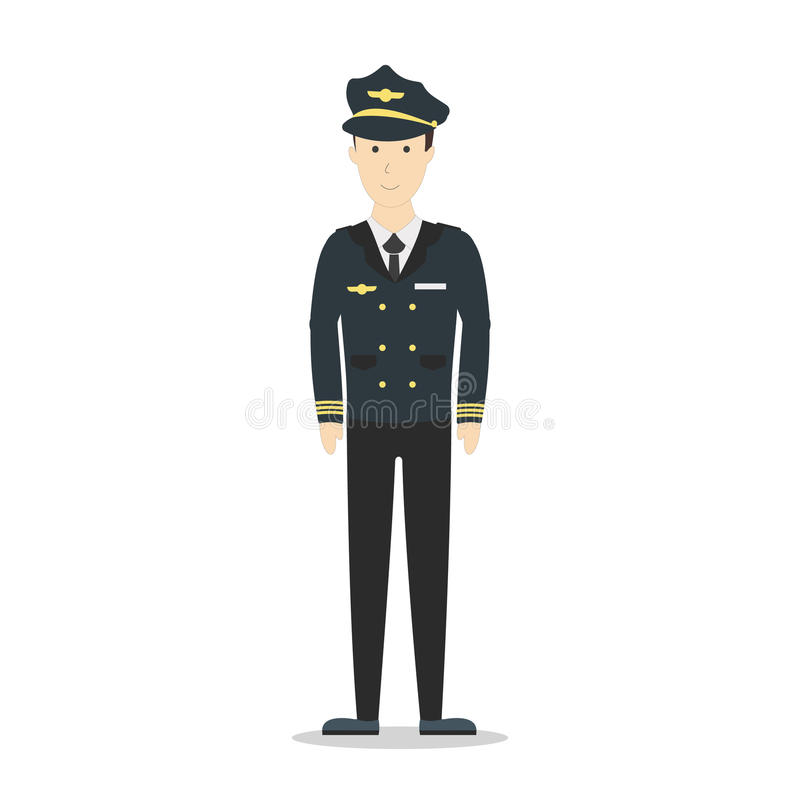 Odosobniony pilot na bielu ilustracja wektor